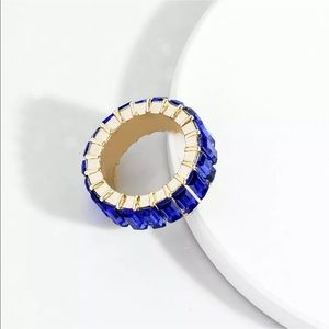 Jewelry - ✨LAST ONE✨ Royal Blue Baguette Stack Ring